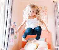 Lifestyle family photos at home