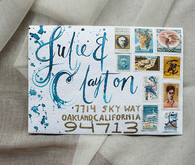 Hand drawn wedding invitations