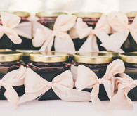 Blackberry jam wedding favors