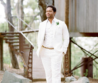 White groom suit
