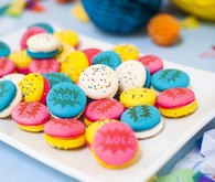 Bright colorful macarons
