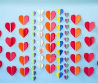 Cut hearts backdrop