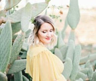 Cactus garden maternity photos