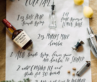 Cocktail bar calligraphy