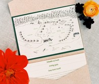 Camp wedding invitation