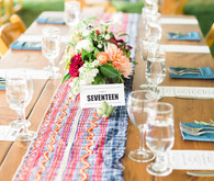 Whimsical wedding table