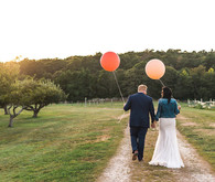 Whimsical Cape Cod farm wedding portrait