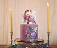 Purple floral layer cake