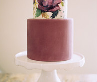 floral purple layer cake