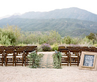 Rustic vintage Ojai wedding ceremony