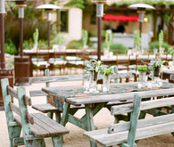 Rustic vintange Ojai wedding reception