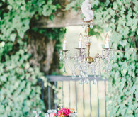 Vintage wedding chandelier