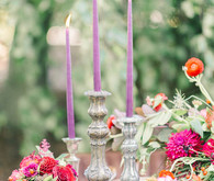 Jewel toned wedding decor