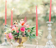 Vintage jewel toned wedding decor