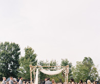 Rustic Tennessee fall wedding ceremony