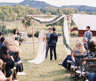 Rustic Tennessee wedding ceremony