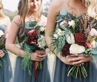 Fall wedding bridesmaids bouquet