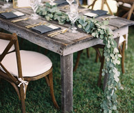 Rustic fall wedding tablescape