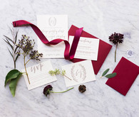 Autumn wedding invitation suite