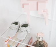 glamorous black and white girls nursery