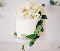 Classic white floral baby shower