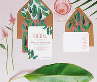 Palm leaf invitations