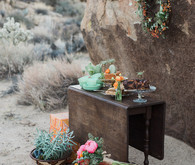 Bohemian desert wedding inspiration