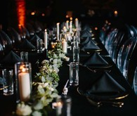 Modern wedding tablescape