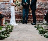 Modern downtown wedding ceremony