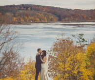 Whimsical Hudson Valley wedding portrait