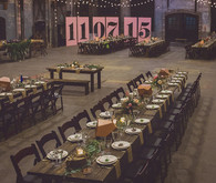 Whimsical wedding tablescape