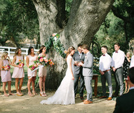 Rustic spring wedding ceremony
