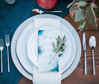 Indigo wedding menu