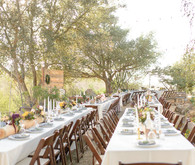 Rustic farm wedding tablescape