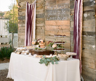 Rustic dessert table backdrop