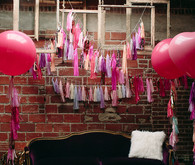 Girly Valentine's Day party decor