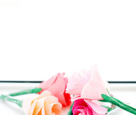 Crepe paper wedding florals