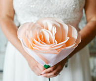 Crepe paper wedding bouquet