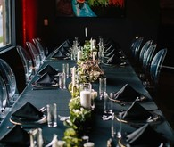 Black wedding tablescape decor