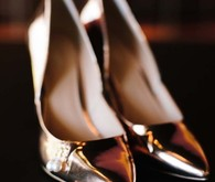Copper wedding shoes