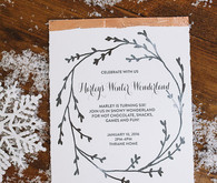 winter birthday invites