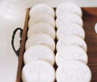white baby shower cookies