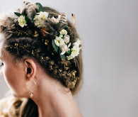Moroccan bohemian wedding hairstyle