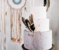 Moroccan bohemian wedding cake