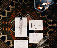 Moroccan bohemian wedding invitations