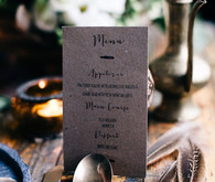 Moroccan bohemian wedding menu