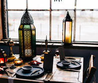 Moroccan bohemian wedding tablescape