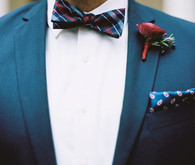 Jewel toned groom attire