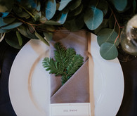 DIY Barn wedding place setting