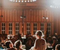 Barn wedding reception